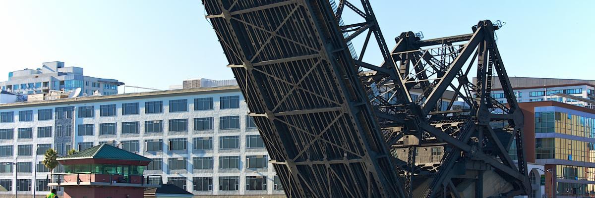 Image of Third Street Bridge raised