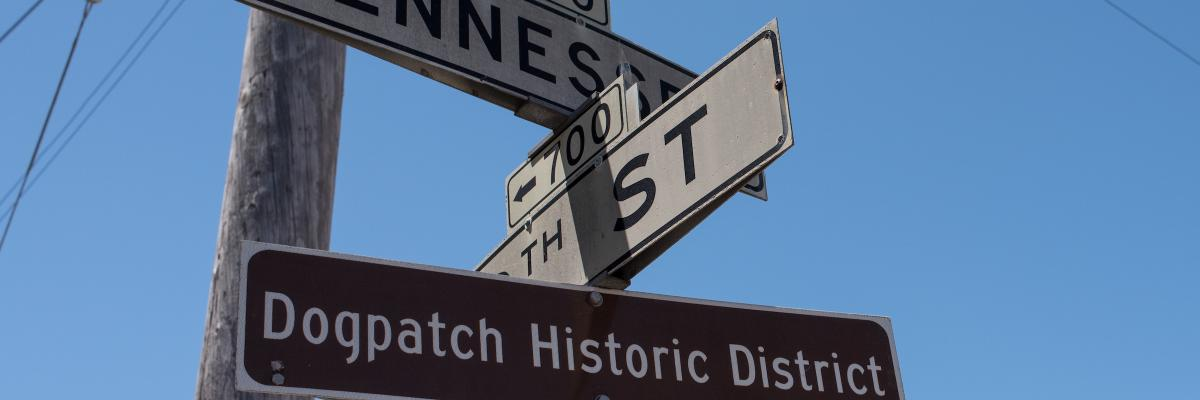 Dogpatch cross street signs