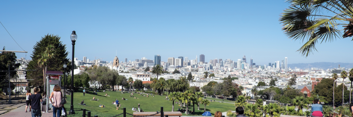 Image of San Francisco from above Delores Park