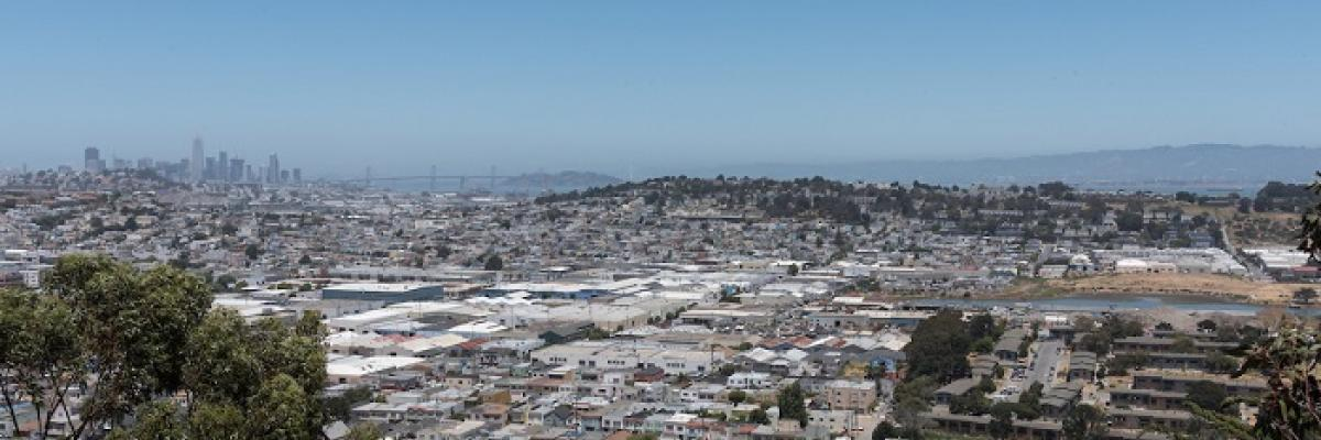 Arial photo of Bayview-Hunters Point