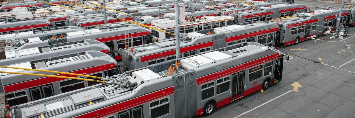 Buses at the Potrero Yard