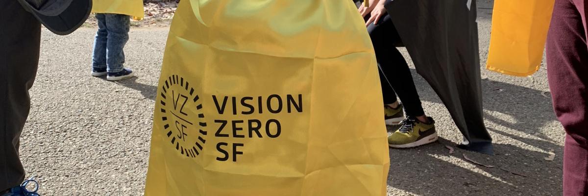 Child wearing a Vision Zero SF cape