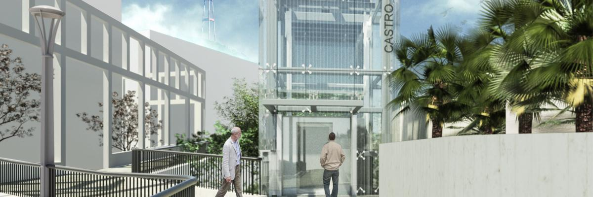 Rendering of Castro Station Elevator once renovations completed