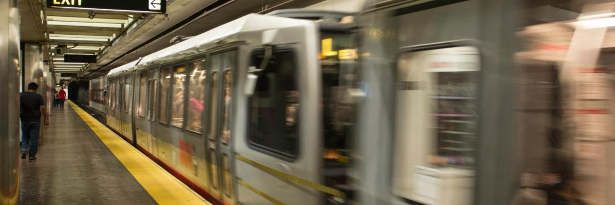 light rail in the subway