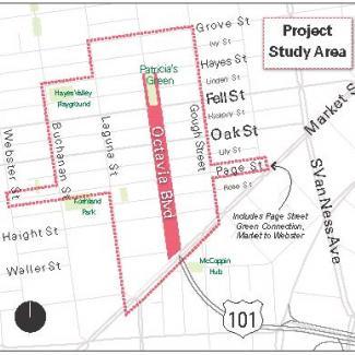 Octavia Project study area map