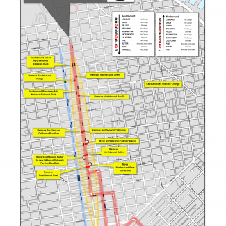 Overview image of changes to Polk Street