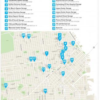 image of map of garages that are bing updated with the Parking Access Revenue Control Systems