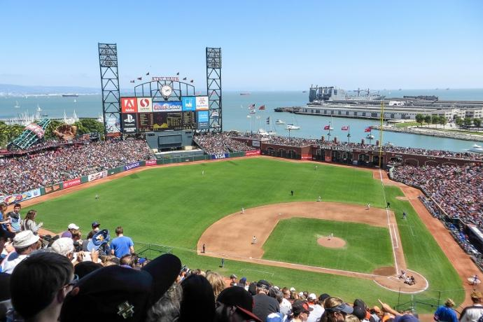 AT&T Park on a sunny day in 2013