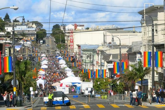 Castro Street Fair Viewed from the South in 2016