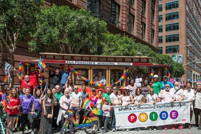Muni Contingent in 2016 SF Pride Parade