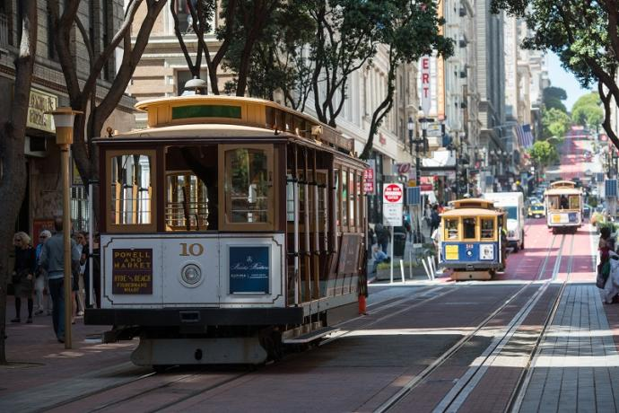 Cable Car headed down Powell Street.