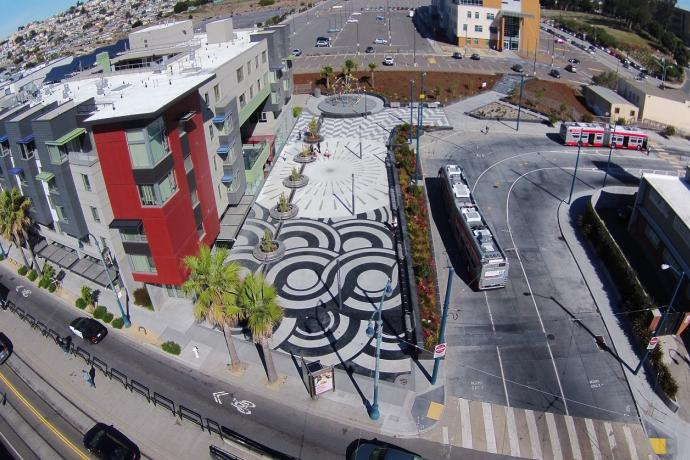 Image of Unity Plaza from above