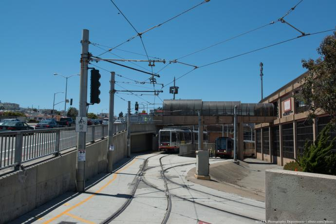 Balboa Park Station on Geneva Ave