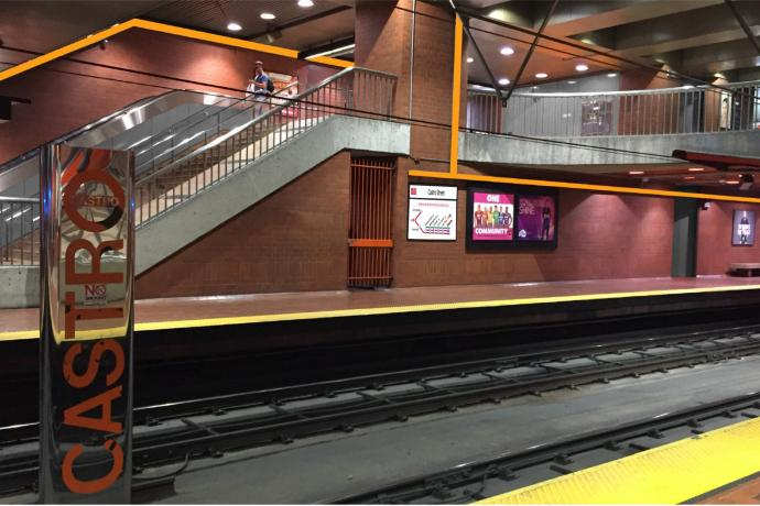 mock-up of Castro platform and mezzanine