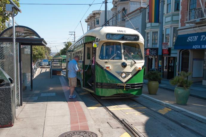 F Market Train at Castro Street
