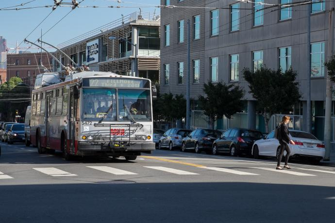 22 Fillmore bus in San Francisco