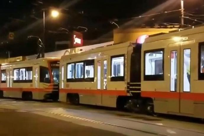 Testing of new three car train