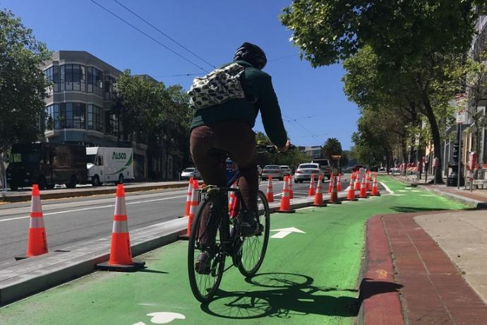 New Market Street bike lane.