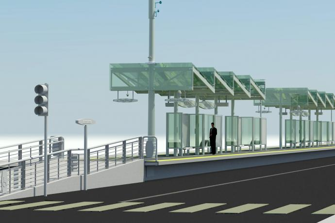 Basic rendering of the platform