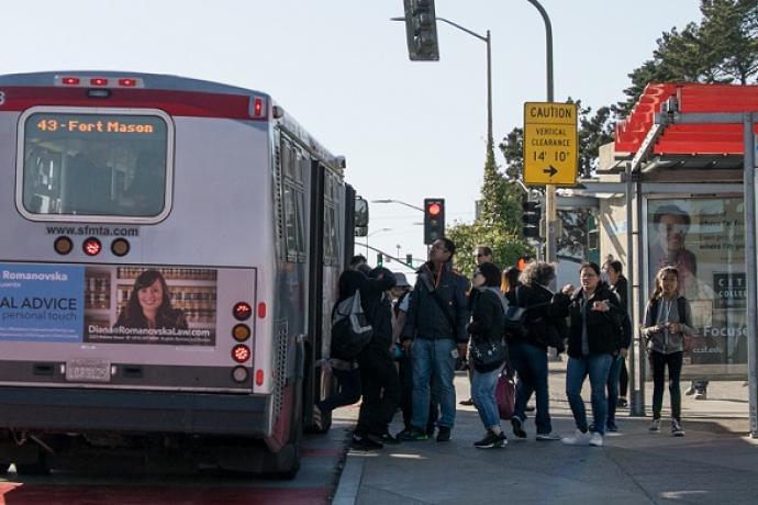 Balboa Park bus stop.