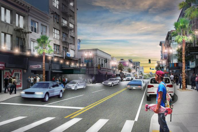 Conceptual rendering of proposed improvements at 6th & Stevenson