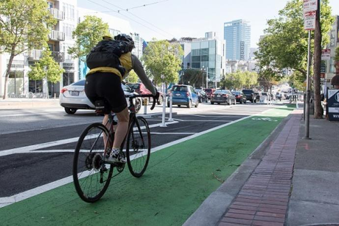 Biking on the bicycle network.