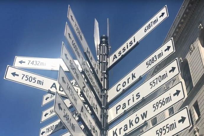 Sister City Sign of San Francisco.