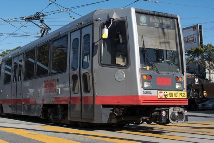 K Igleside train headed for Balboa Park.