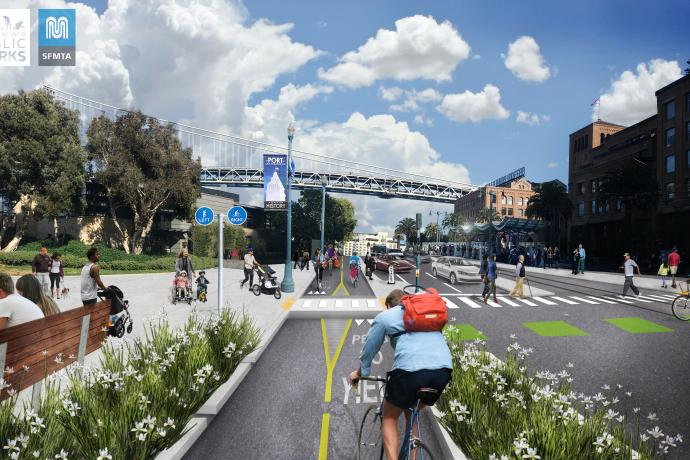 Concept rendering of The Embarcadero at Folsom Street
