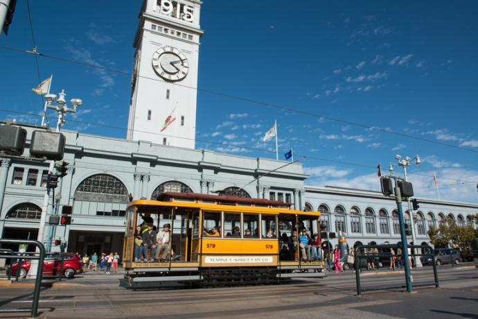 streetcar and ferry building