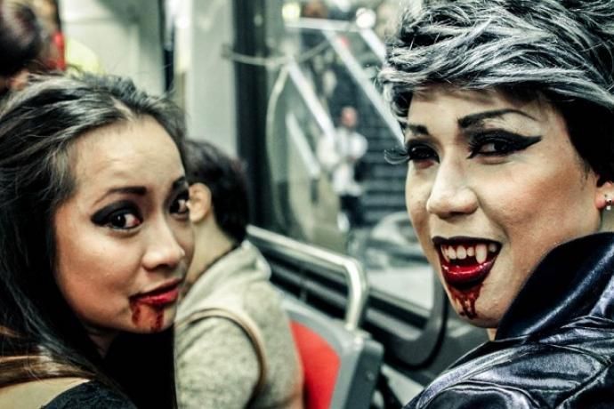 Two vampires on Muni