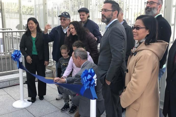 Ribbon cutting for the Balboa Park Station upgrades.