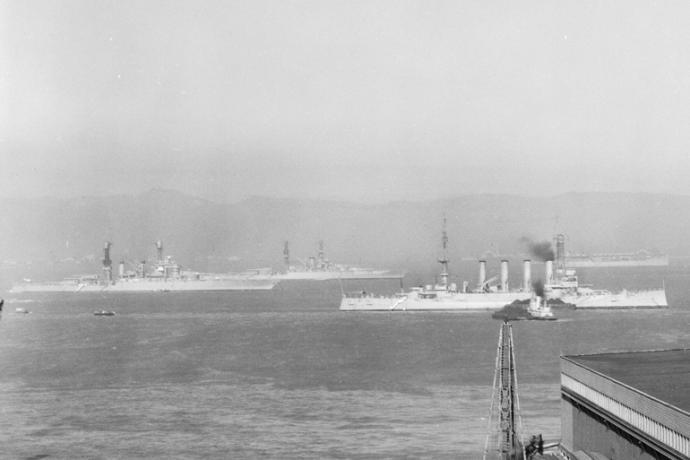battleships in SF Bay