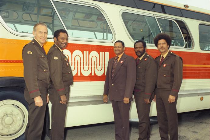 Muni drivers with bus