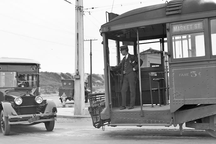 The L Taraval in 1925 at 47th Avenue and Wawona Street.