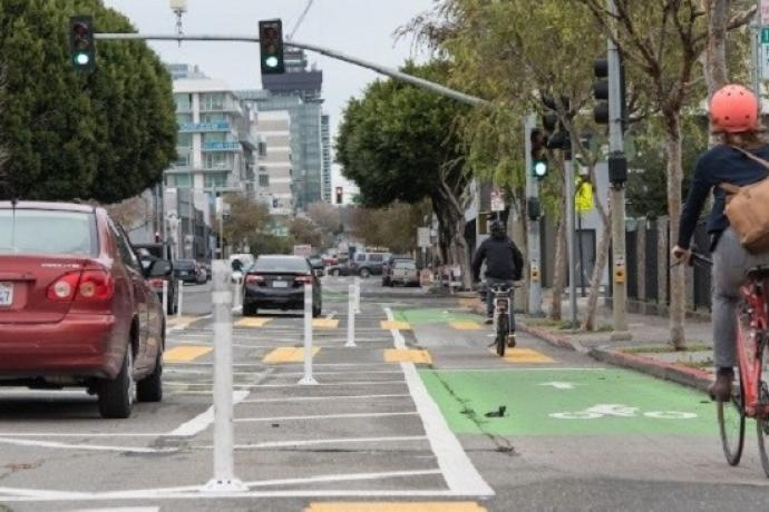 Folsom and Howard street bike path