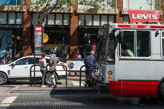 Market Street bus stop.