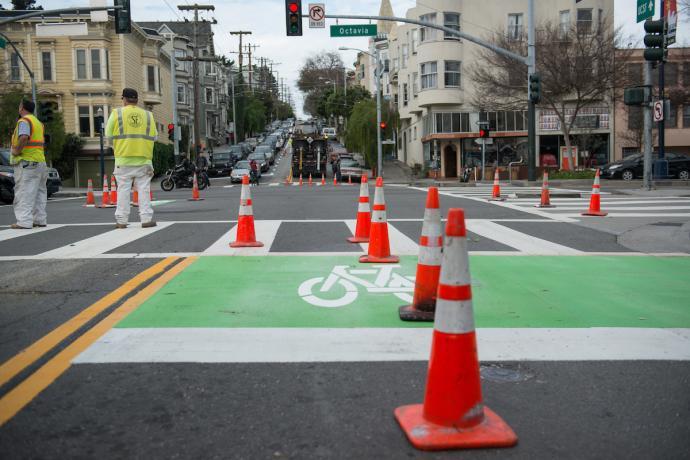Page Street bike lane