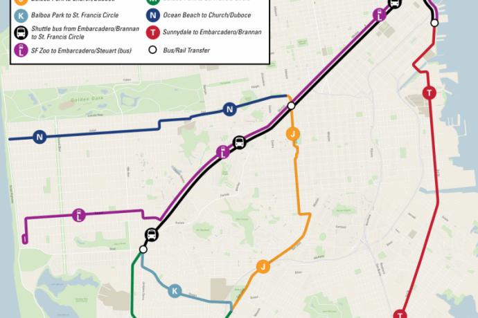 Early Subway Closure Map