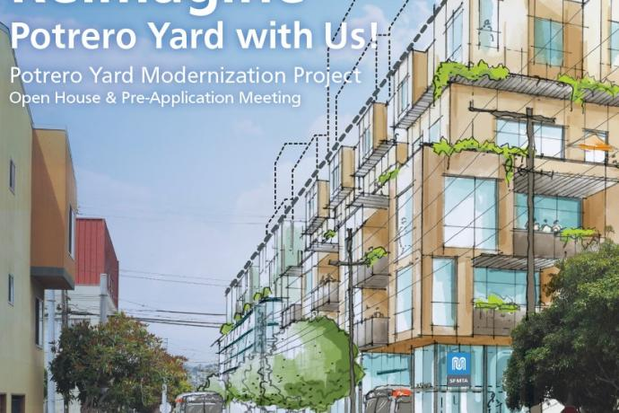 Reimagine Potrero Yard with Us; artist drawing of the proposed buildings
