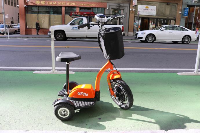 Spin adaptive scooter