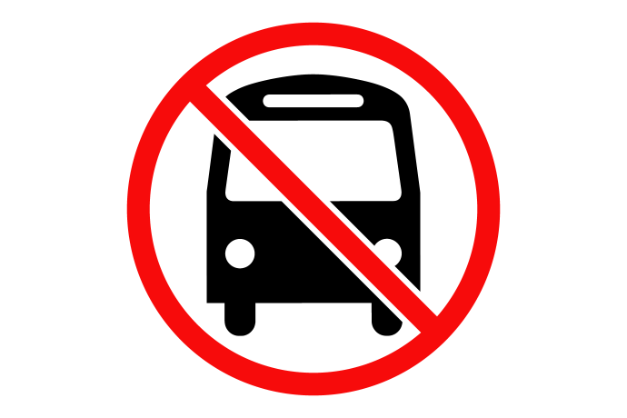 symbol for no bus service