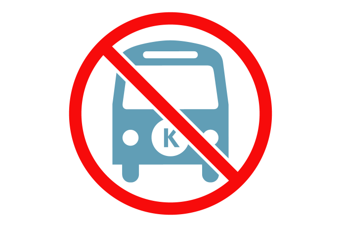 Icon showing no K Bus service