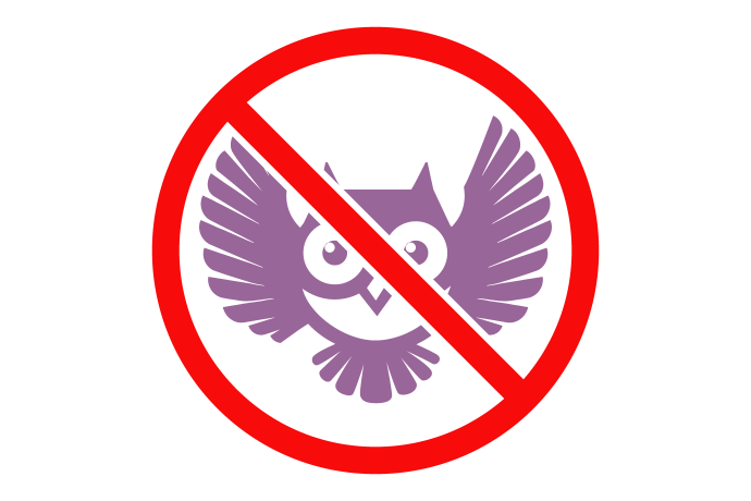 icon depicting no owl service