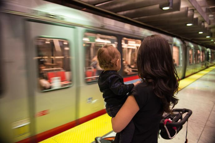 Photo: Muni Metro rail in the subway