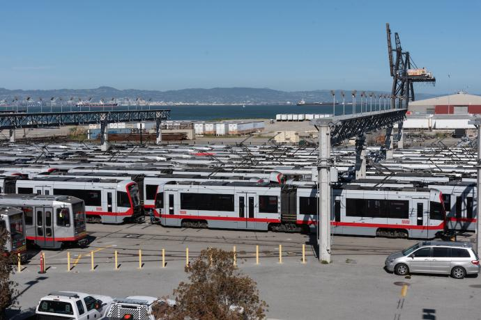 Muni Metro East Facility facing east
