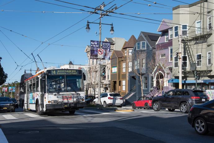 The 24 Divisadero bus on Divisadero Street