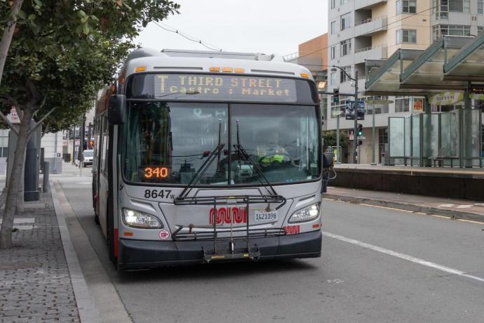 T Third bus on 3rd Street