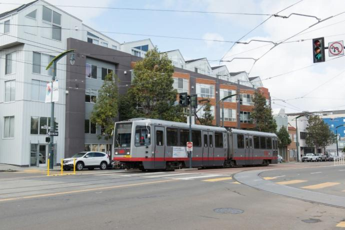 Photo of LRV on 3rd St
