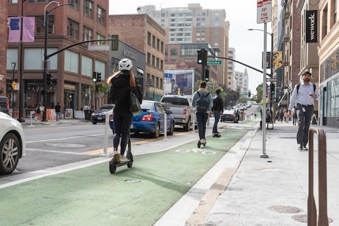 Powered scooters are an increasingly popular way for San Franciscans to move around the city.